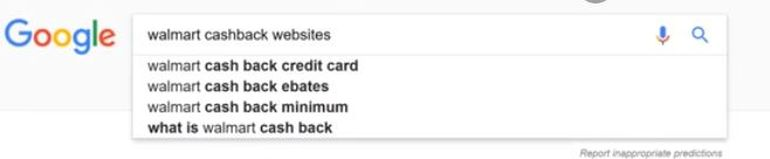 google search, cashbacks