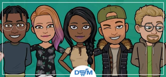 customized bitmoji