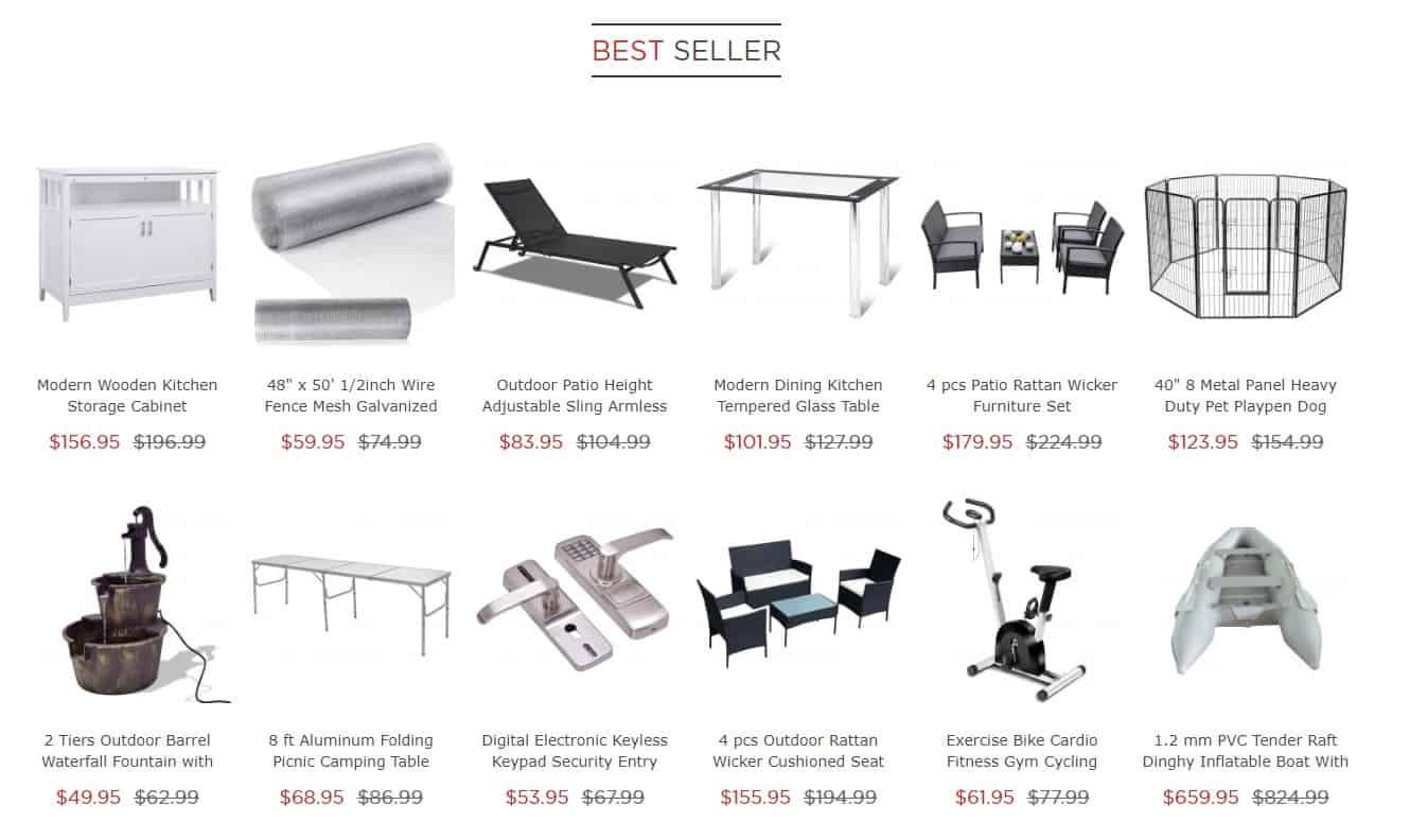 best seller costway products