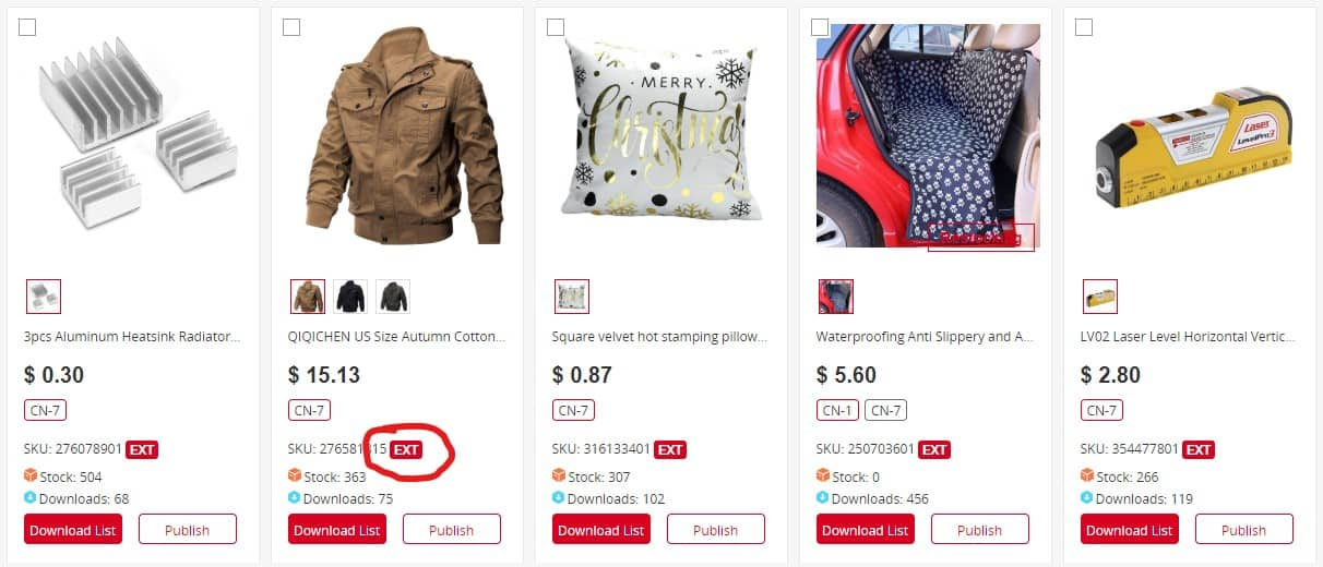 Third-Party Owned section in Chinabrands