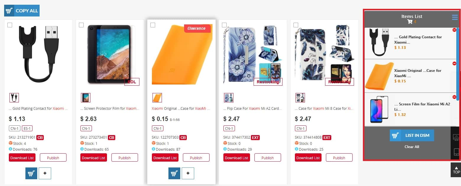 Dropshipping multiple items from Chinabrands