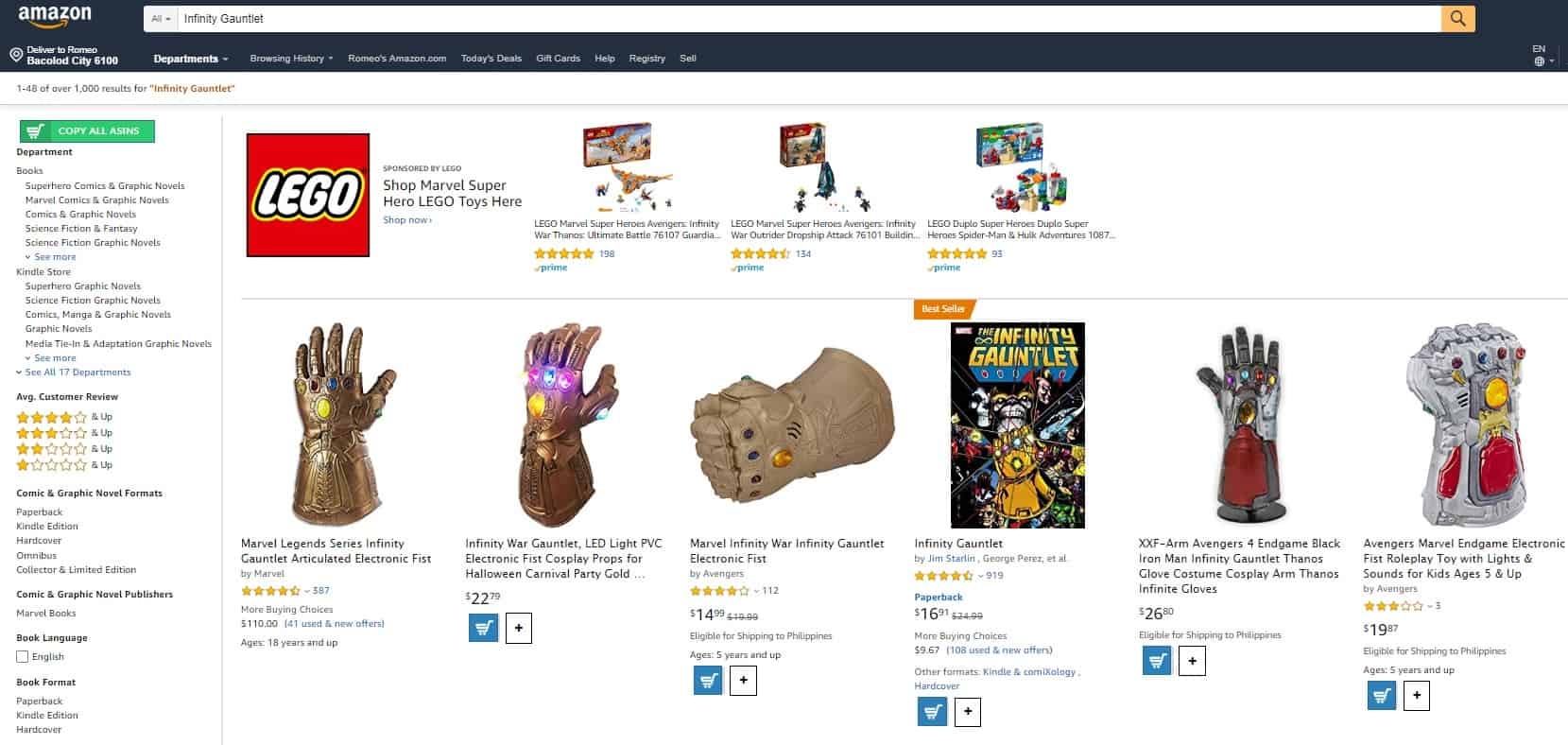 Amazon product search