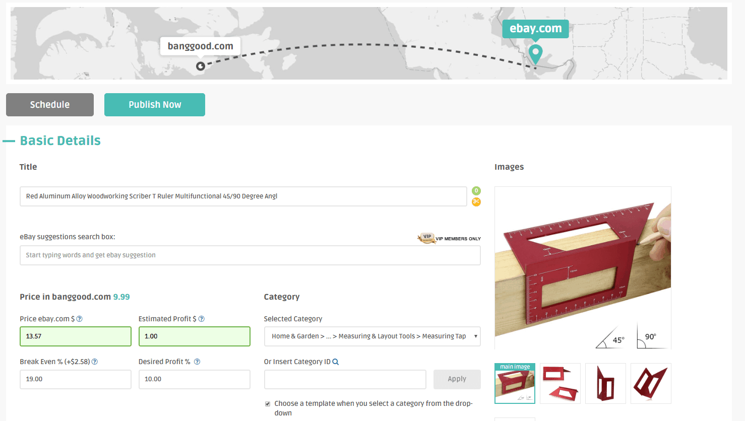 dropshipping from Banggood on eBay with DSM Tool