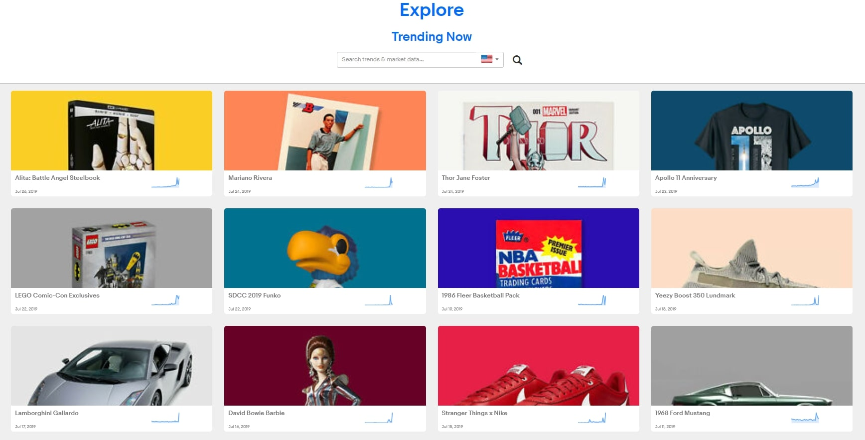 eBay explore to find products to dropship