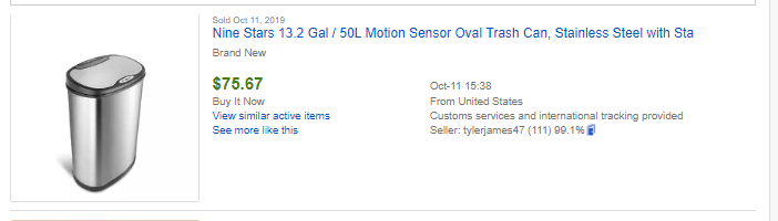 example of a dropshipping product on eBay