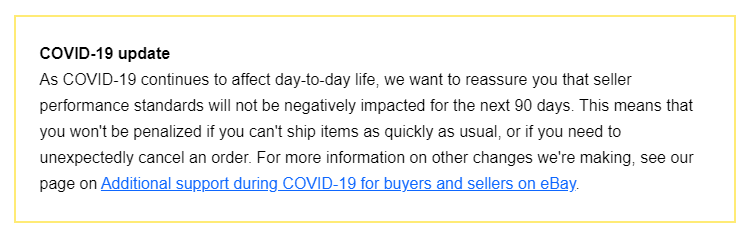 dropshipping sellers are safe on ebay during covid-19