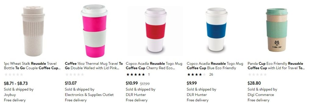 reusable cups as eco products