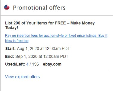Promotianal offers on Seller hub