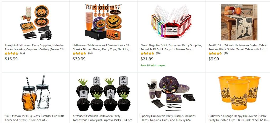 Halloween Party Supplies products on Amazon