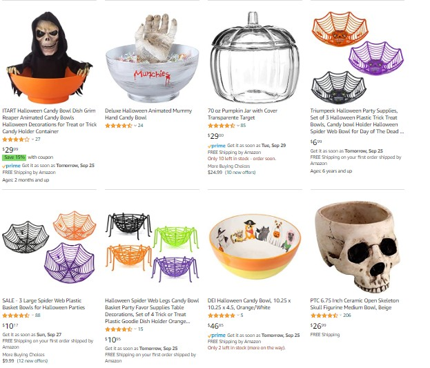 Halloween Candy Accessories on Amazon