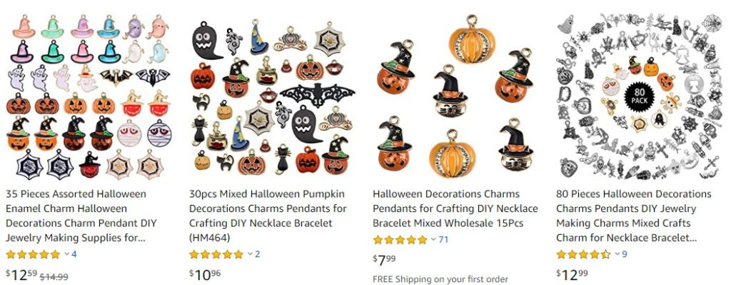 Halloween pendants on Amazon