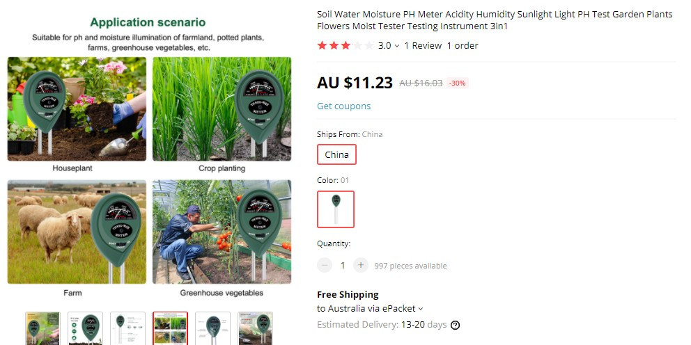 Soil Tester as profitable product for dropshipping