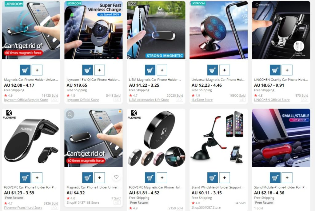 Smart Phone Car Holder as top selling product for eBay Australia