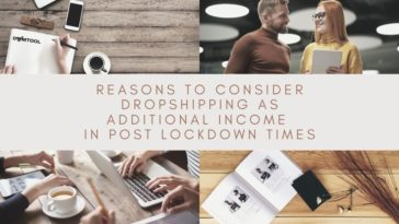 consider dropshipping as additional income