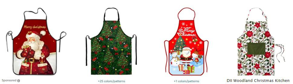 aprons to sell on Christmas