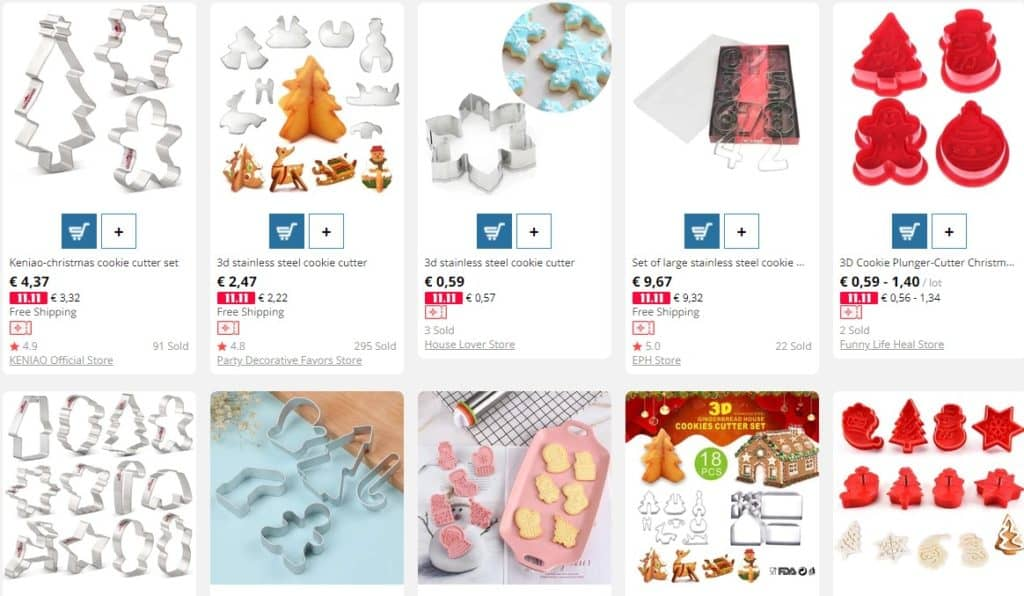 Cookies cutters as Christmas dropshipping product