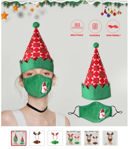 Chrsitmas mask and hat set from AliExpress