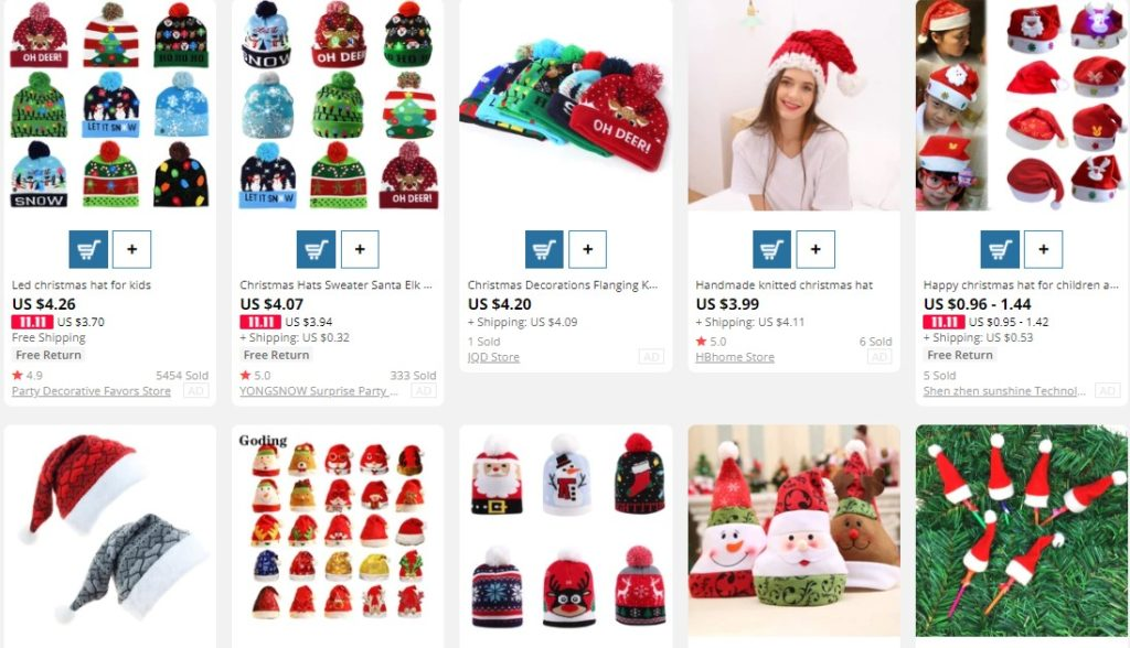 Christmas themed hats to dropship on Christmas