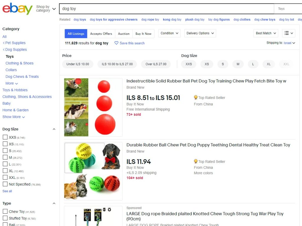 eBay search engine optimization for getting into the first page of search results