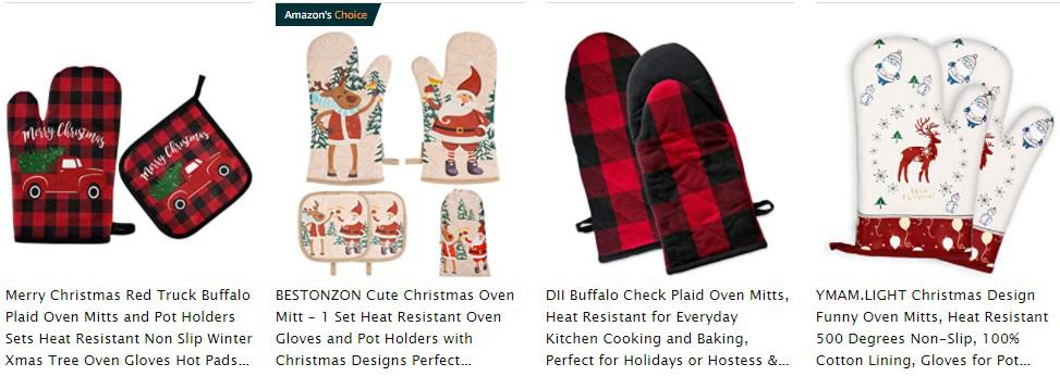 Oven Mitts as a Christmas niche product idea