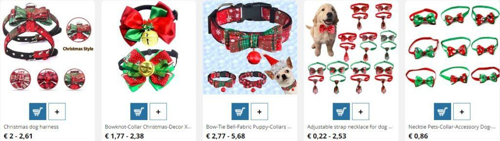 selling Christmas products for pets product example