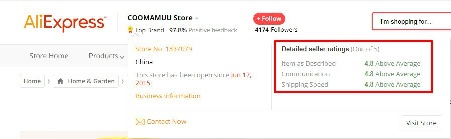 Aliexpress sellers overview