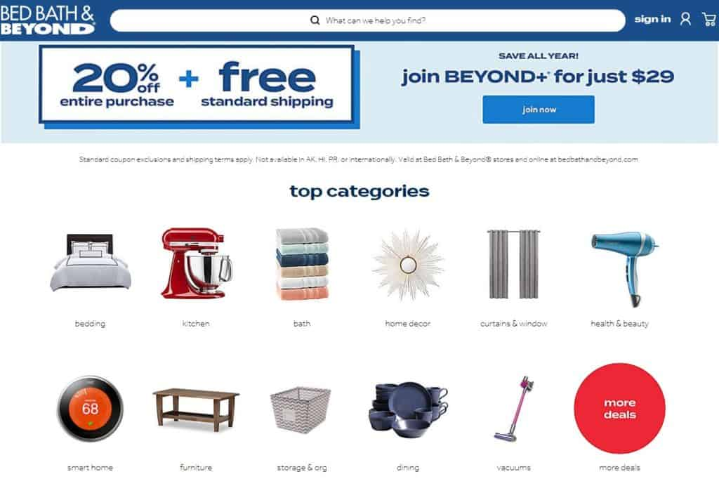 Dropshipping from Bed Bath & Beyond