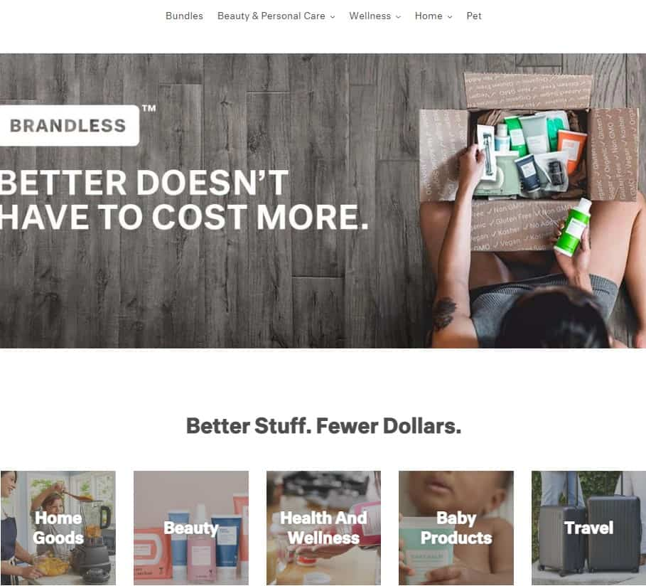 Brandless as a dropshipping source.