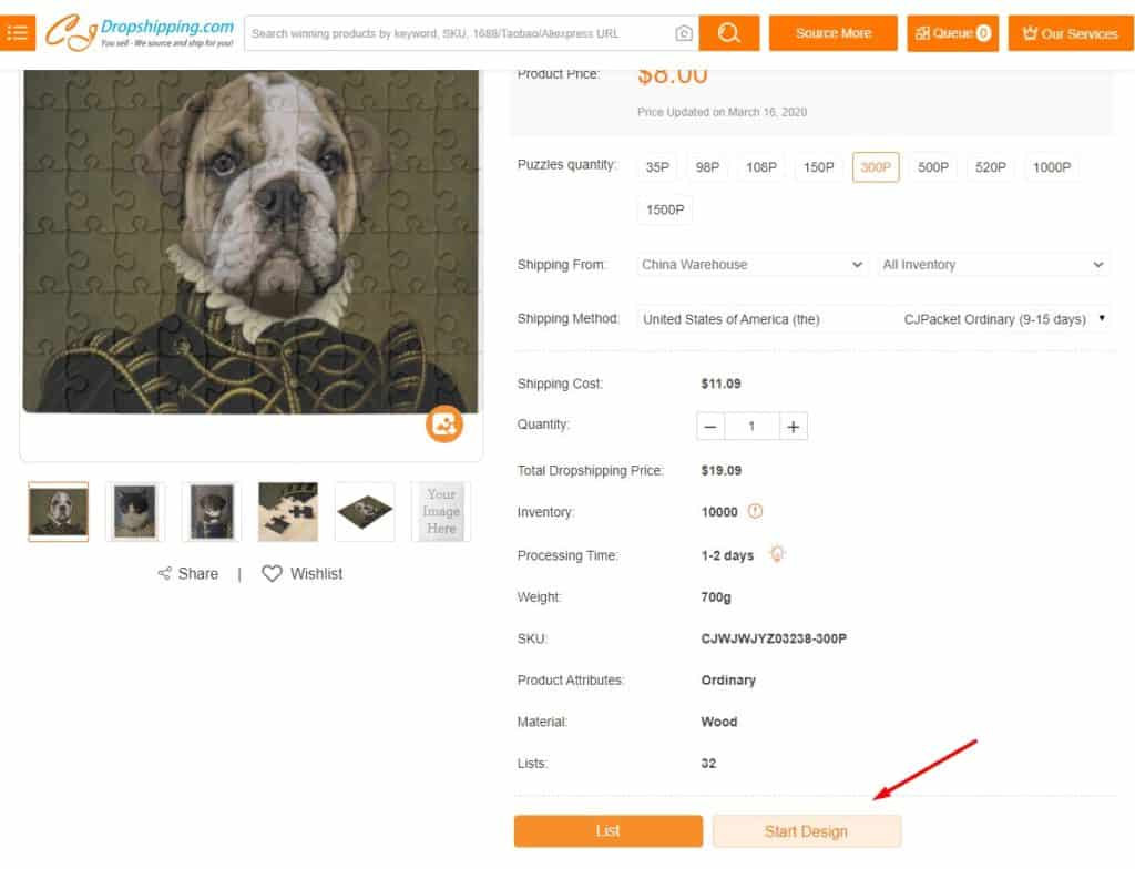 Starting your own design for a print-on-demand dropshipping product