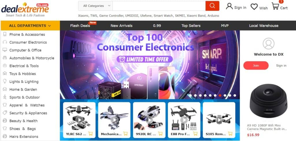 DealeXtreme for dropshipping from China