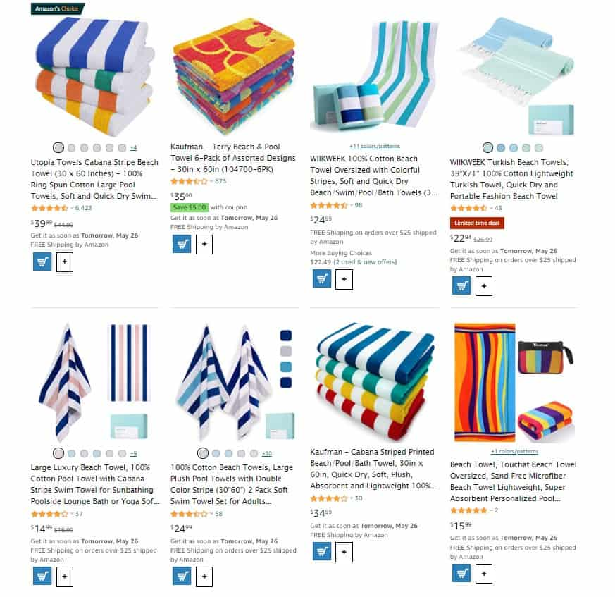 Beach towels as summer essentials to sell