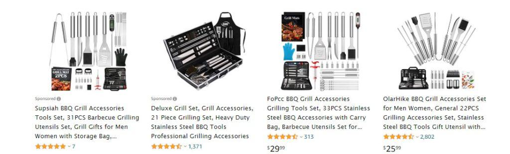 BBQ gift set for dropshipping on Father's Day 2021