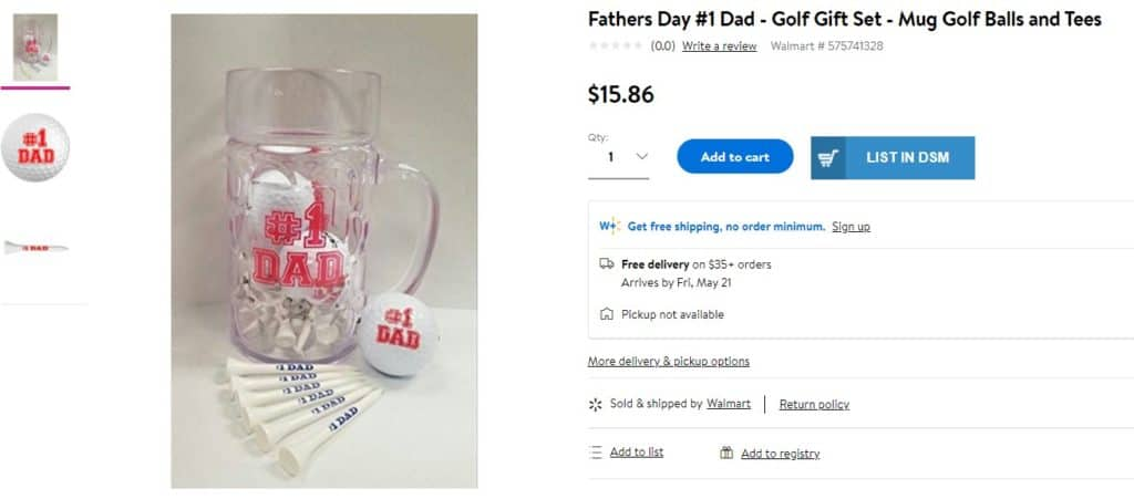 Golf mug as a cool gift for dads