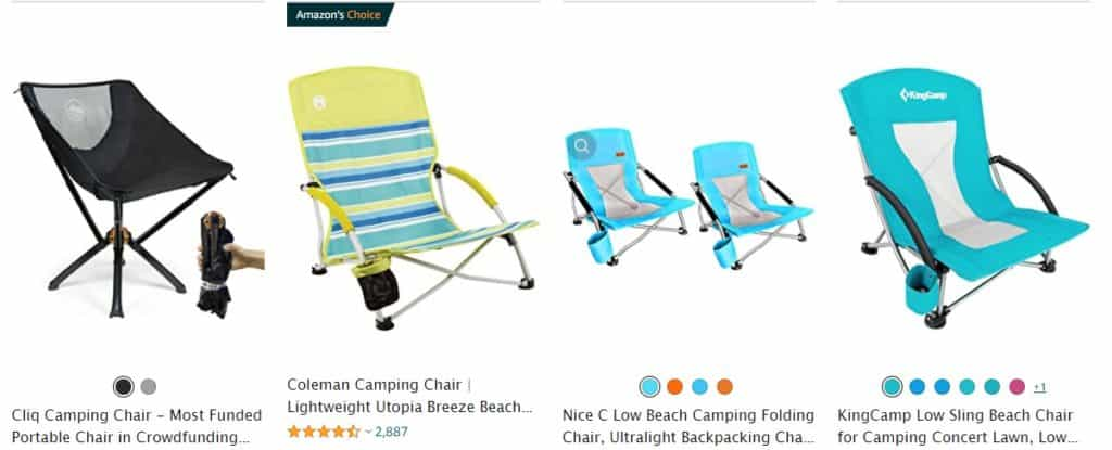 Beach chairs are trending summer items to dropship
