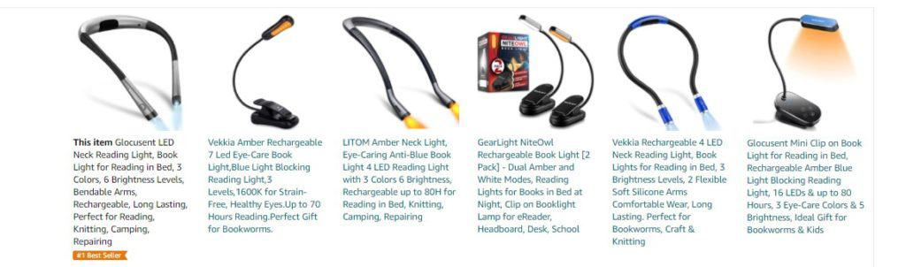 Reading light - a product idea for dropshipping on Father's Day