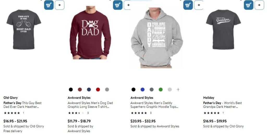 Items for drop shipping on Father's Day