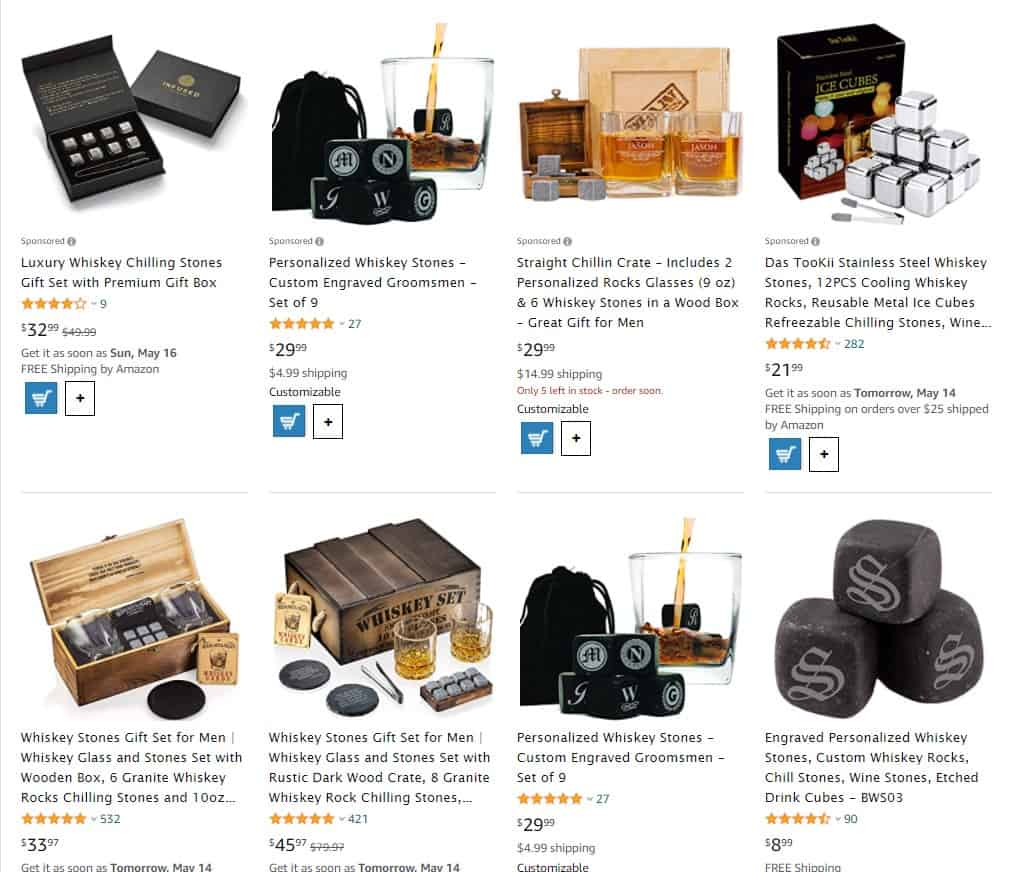 whiskey stones to dropship on Father's Day
