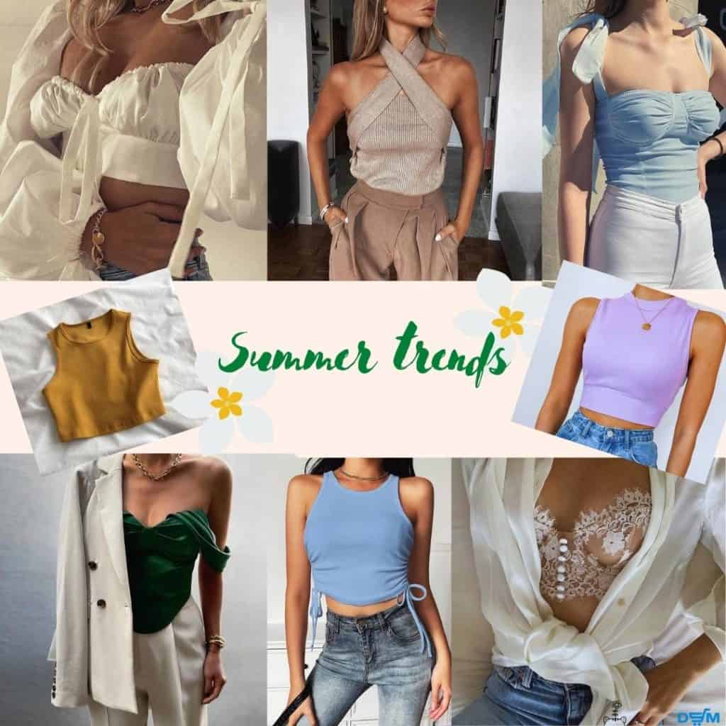 Tops are one of the most trending summer items in 2021