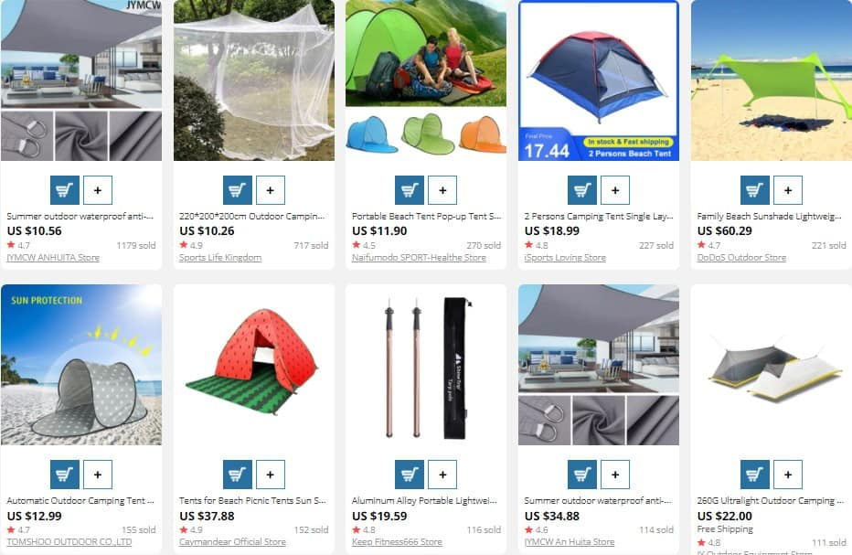 Tents for dropshipping in summer