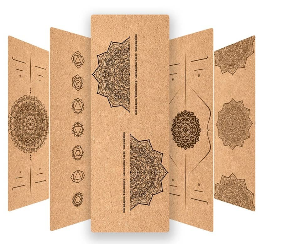 Cork yoga mats as eco-friendly products