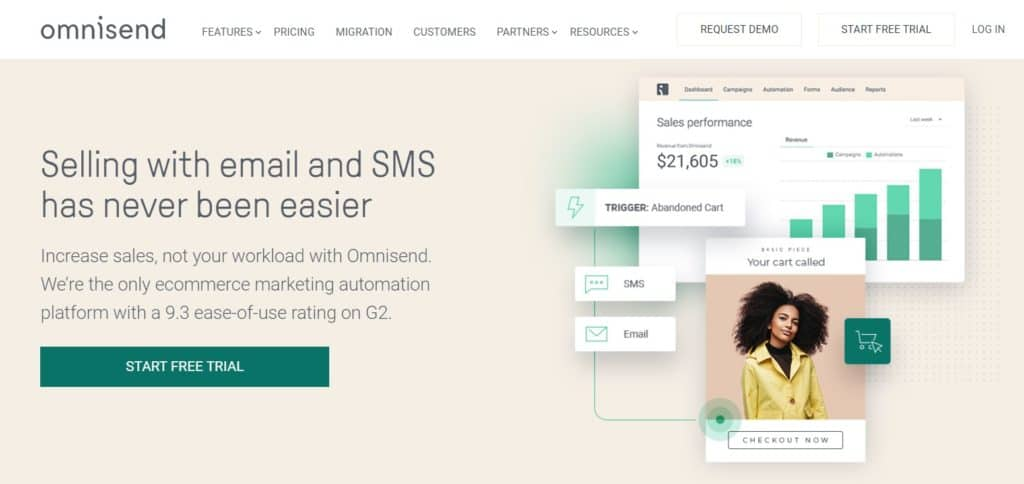 Omnisend is a service for Shopify email marketing