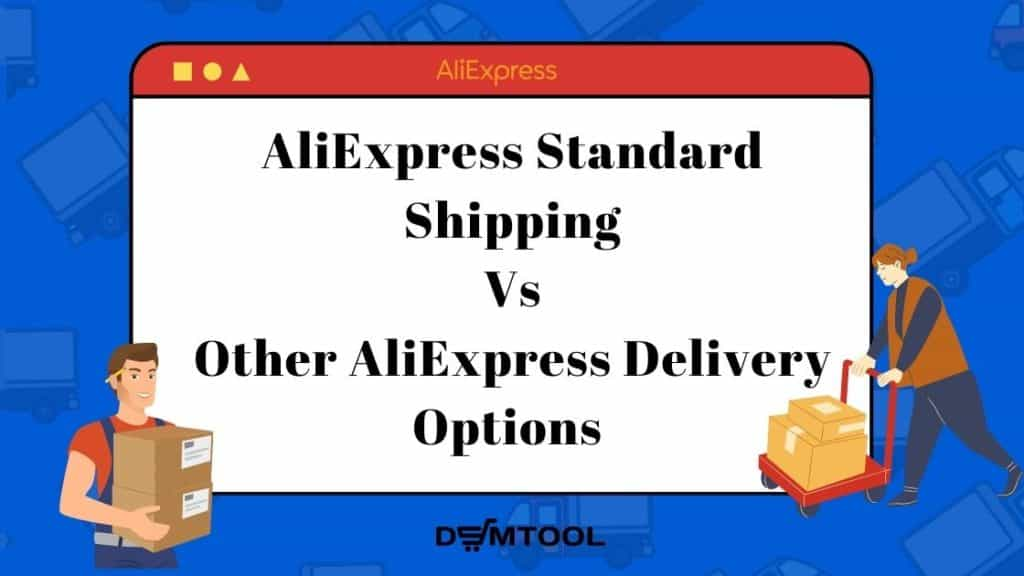 The comparison of Aliexpress standard shipping with other delivery methods