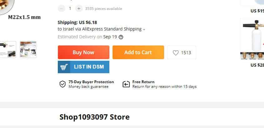 Dropshipping Chrome extension