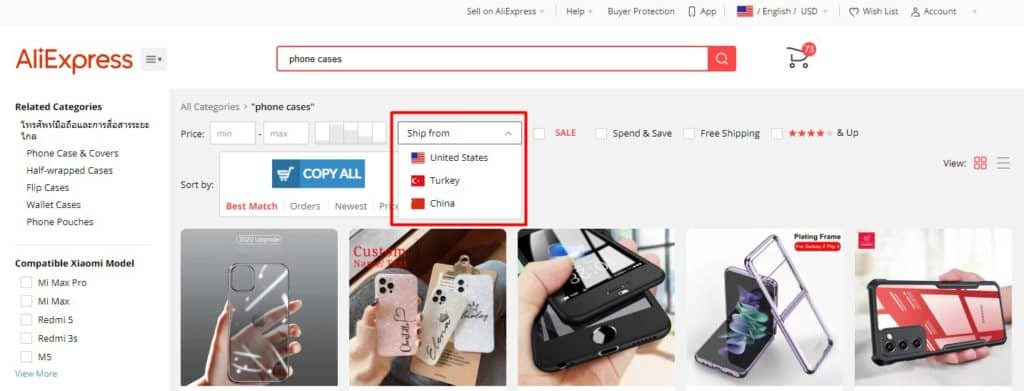 Aliexpress US as a free dropshipping supplier