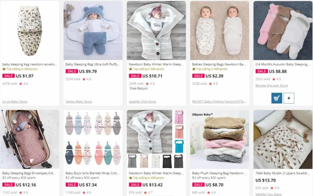 A product idea to dropship baby items from Ali Express