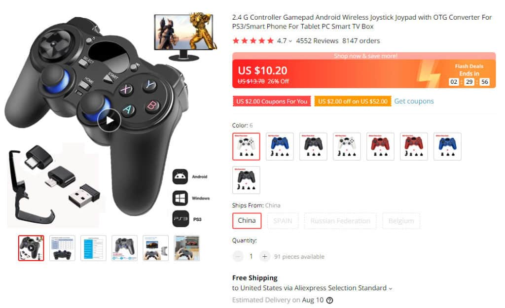 One of the cool gaming products for dropshipping from Ali express