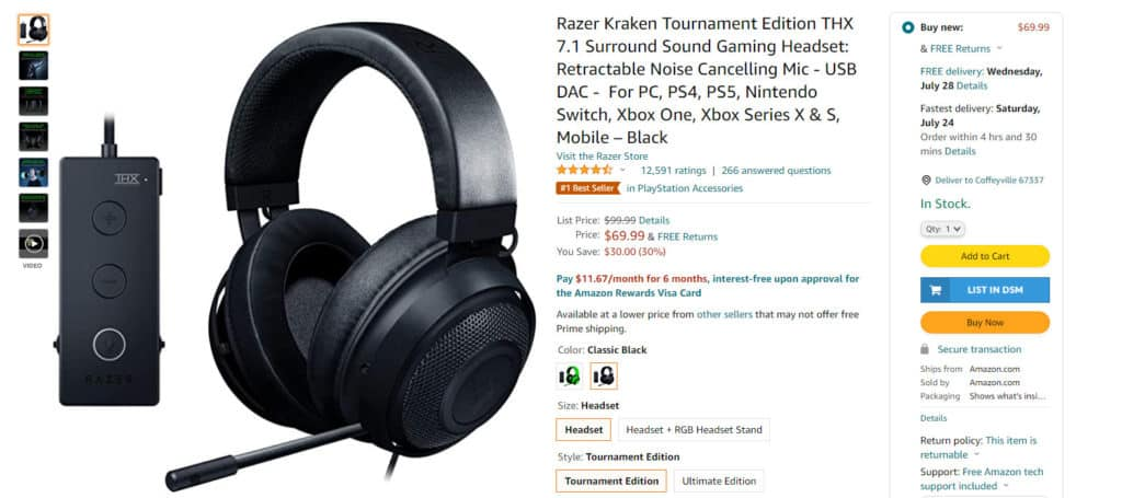 Amazon bestseller gaming product for dropshipping