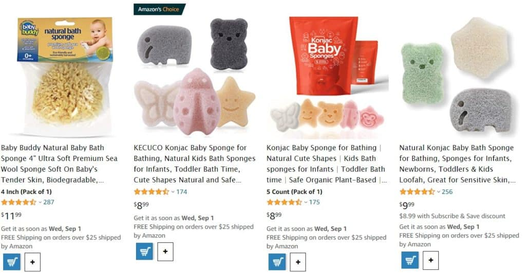 Best natural baby bath products from Amazon