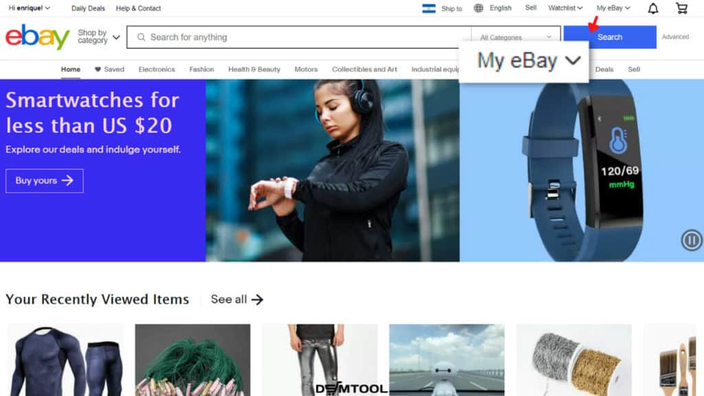 the My eBay section