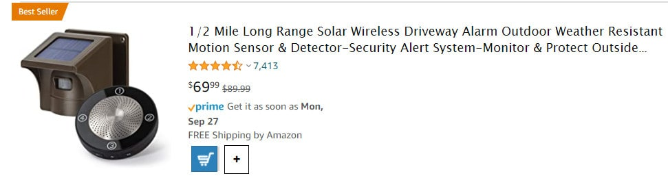 home security items from Amazon